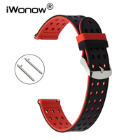 Quick Release Silicone Rubber Watchband 17mm 18mm 19mm 20mm 21mm 22mm 23mm 24mm Universal Watch Band