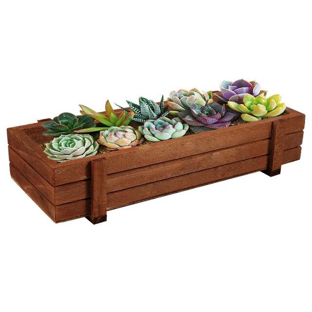 Indoor Outdoor Lovely Wooden Herb Flower Succulent Planter Box Home