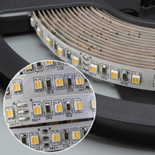 5m DC12/24V SMD 5050 2IN1  LED CCT Color Temperature Adjustable & Dimmable LED Strip Light  Two Colour 14.4W/M Free Shipping
