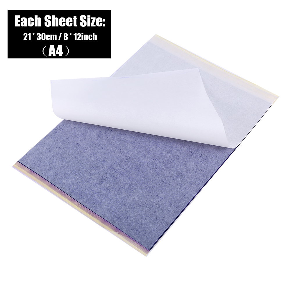 Image 4 - 100pcs Tattoo Transfer Paper Tattoo Supplies Copy Sheet Carbon Tracing Paper Thermal Transfer Papier Stencil Tattoo accessories-in Tattoo accesories from Beauty & Health