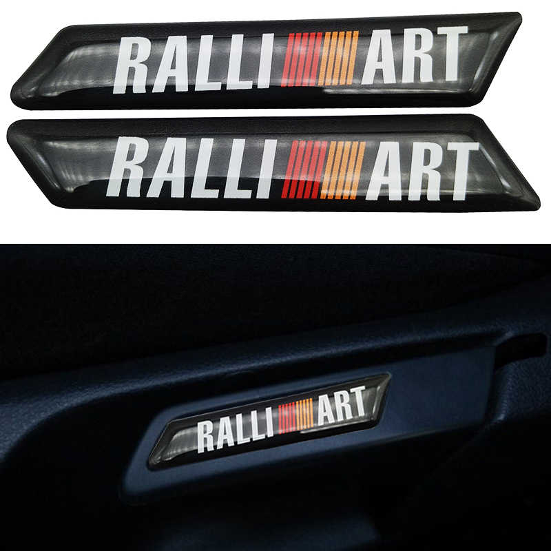 2pcs/lot 2019 Car Sticker Car decoration case For RalliArt Mitsubishi Ralli Art Lancer 10 Asx Outlander Accessories Car-Styling