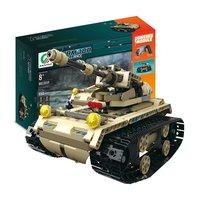 MoFun 13009 2.4G 4H USB Charging Building Block Simulated Military Vehicle 538pcs DIY Electric RC Car Model For Children