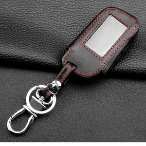 Image 3 - jingyuqin New A93 Leather Case For Starline A93 A63 Car alarm Remote Controller LCD Keychain Cover