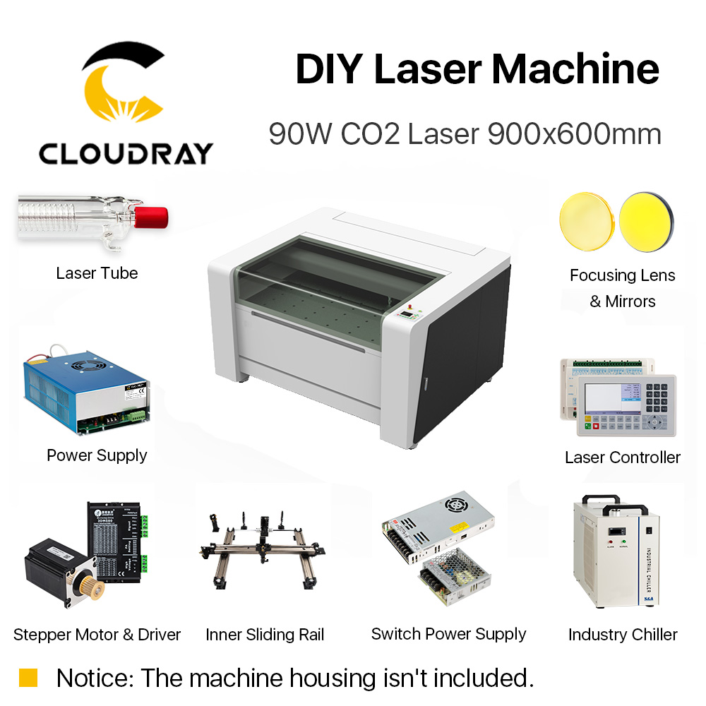 Cloudray Complete Accessories for 9060 RECI W2 Customized CO2 Laser Machine Laser Solution of All Parts for DIY Laser Ruida S&A