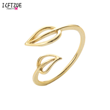 Gold Toe Ring Double Leaf Medusa Rings For New Fashion Vintage Ring Stainless Steel Jewelry Ladies Jewelry Bague Femme