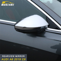 GELINSI Rearview Mirror Cover Trim Frame Sticker Interior Accessories for Audi A6 2019 C8 Car Styling