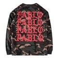 Absolutamente Alta Calidad Real Etiqueta Kanye West YEEZY Pablo Camiseta TEMPORADA 1 Justin Bieber Hip Hop Camuflaje Militar Hombres Camiseta Larga