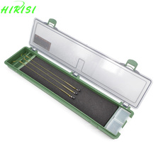 Hirisi Carp Fishing Tackle Box Stiff Hair Rig Board with Pins Carp Fishing Rig Box Wallet Rig Storage Box