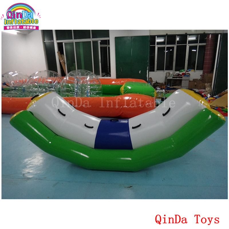 Water play equipment inflatable teeterboard,3m inflatable water seesaw with factory price river treasure water sport toys inflatable water seesaw