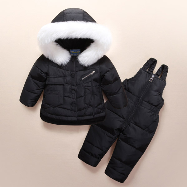 Childrens clothing boys and girls down jacket suit New thick winter setsChildrens clothing boys and girls down jacket suit New thick winter sets