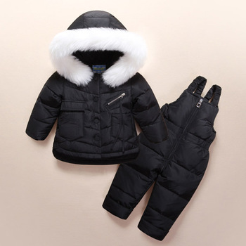 Children's clothing boys and girls down jacket suit New thick winter sets
