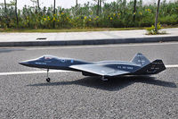 Масштаб Skyfligft YF23 вдова реактивный самолет RC Твин EDF Металл Втягивается комплект модель черный RC самолет
