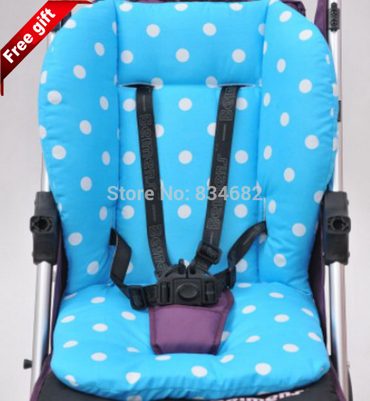 Hot Waterproof Baby Stroller Cushion Stroller Pad Pram Padding Liner Car Seat Pad Dot General Cotton Thick Mat Blue Pink 5 Color