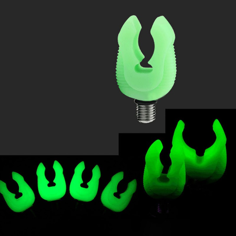 Carp Fishing Rubber Butt Rod Fluorescent Green Gripper Grips Fishing Rod Holder Fishing Tackle Tool Accessories