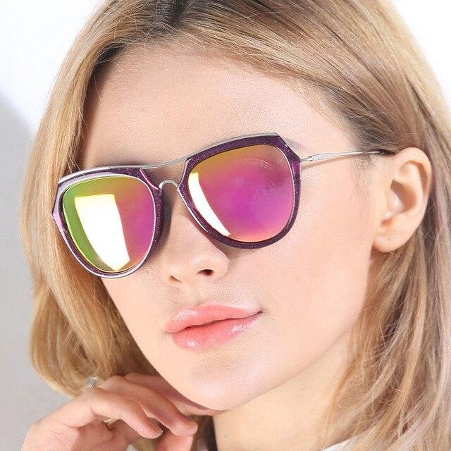 New Fashion Wanita Terpolarisasi Kacamata Sex Wanita Kacamata Terpolarisasi  Cermin Full Metal Bingkai Lensa Reflektif dengan 650d34e4f7