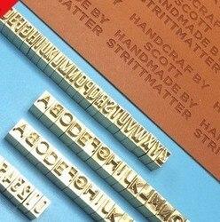 Alfabety Z mosiądzu miedzianego formy od A do Z 3 zestawy + forma miedziana + jeden uchwyt zaciskowy  logo gorącej folii na drewnie  skórze  papierze