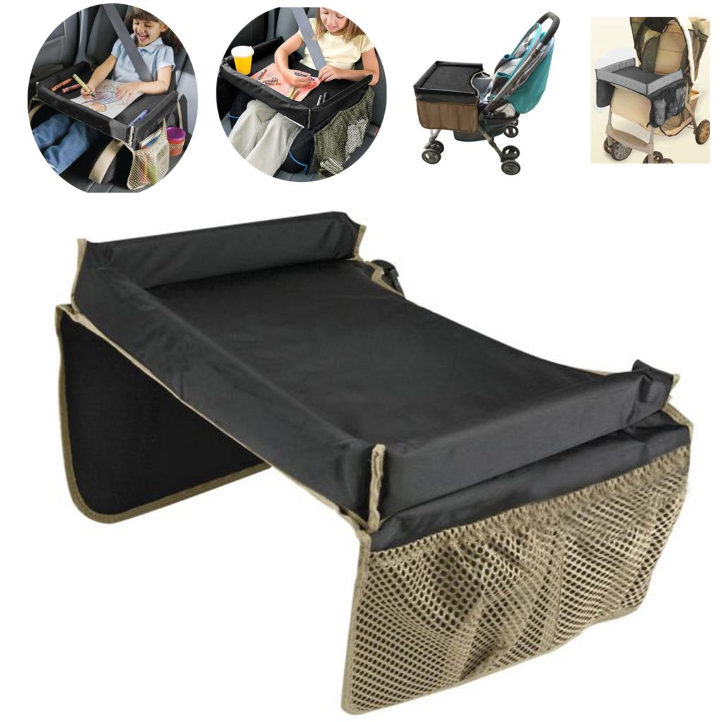 waterproof baby kids toddler car seat snack playtravel tray on the go drawing board table organizer