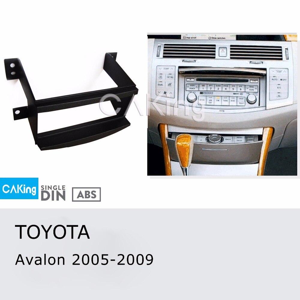 Einzel Din Auto Fascia Radio Panel Für Toyota Avalon 2005-2009 Dash Kit Installieren Montieren Platte Lünette Adapter Konsole Abdeckung Trim SchüTtelfrost Und Schmerzen