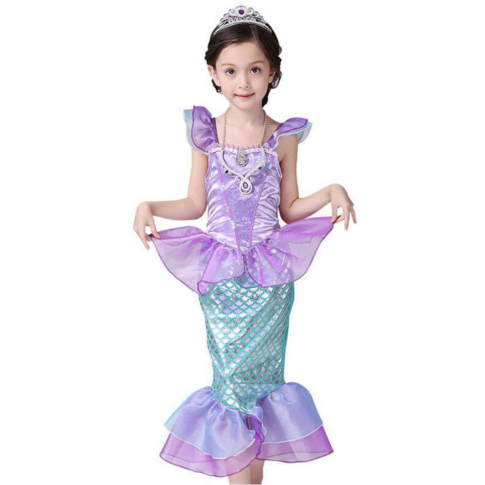 halloween costume children baby girl clothes little mermaid fancy