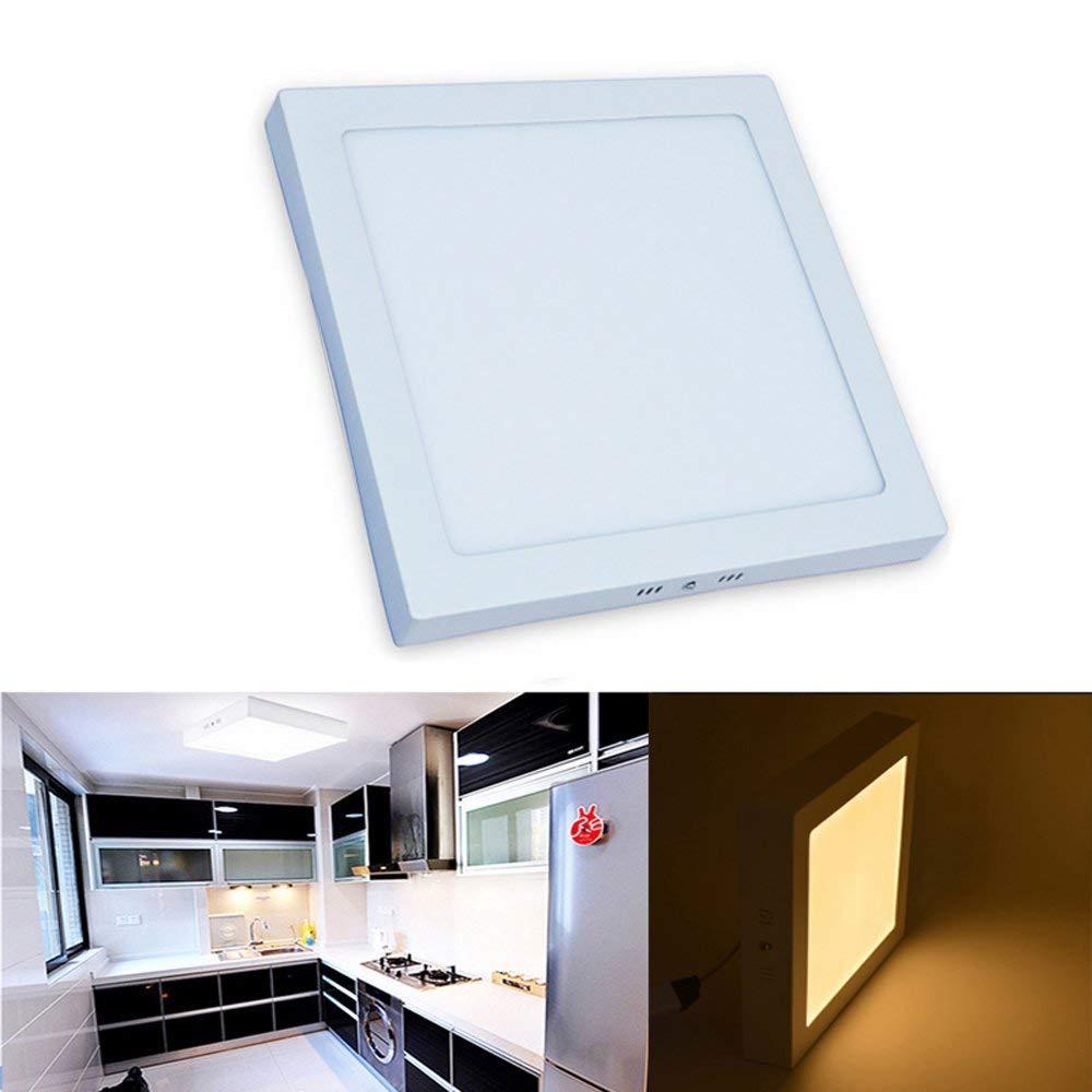 LED פנל אור 6 w 12 w 18 w עגול/מרובע משטח רכוב פנל led תקרת מנורת downlight מטבח AC85-265V + נהג AE