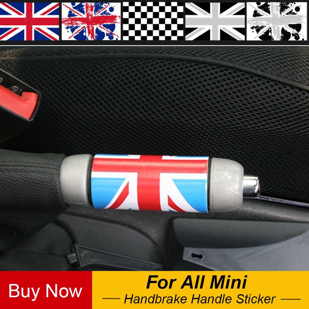 1pc Union Jack Auto Car Hand Brake DIY Sticker Decal For Mini Cooper One JCW S Clubman Countryman Car-Styling Accessories