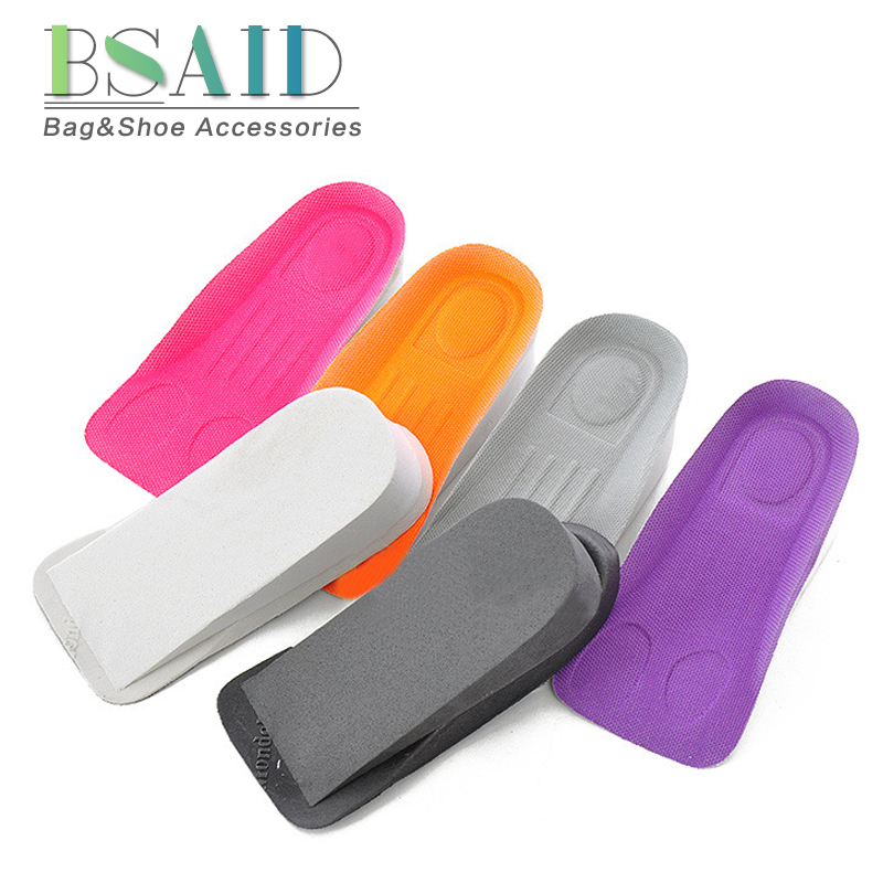BSAID Increasing Height Insoles For Shoes Invisible EVA Shoe Inserts Increase 3cm High Foot Pads Breathable Sneakers Heel Insole bsaid height increasing fur insoles diy cut winter keep warm thick breathable soft wool shoe insole men women height increase