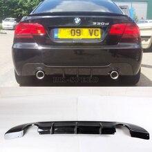 Fibra de carbono E92 rear bumper lip spoiler difusor para BMW E92 M tech M sport bumper 2005-2009