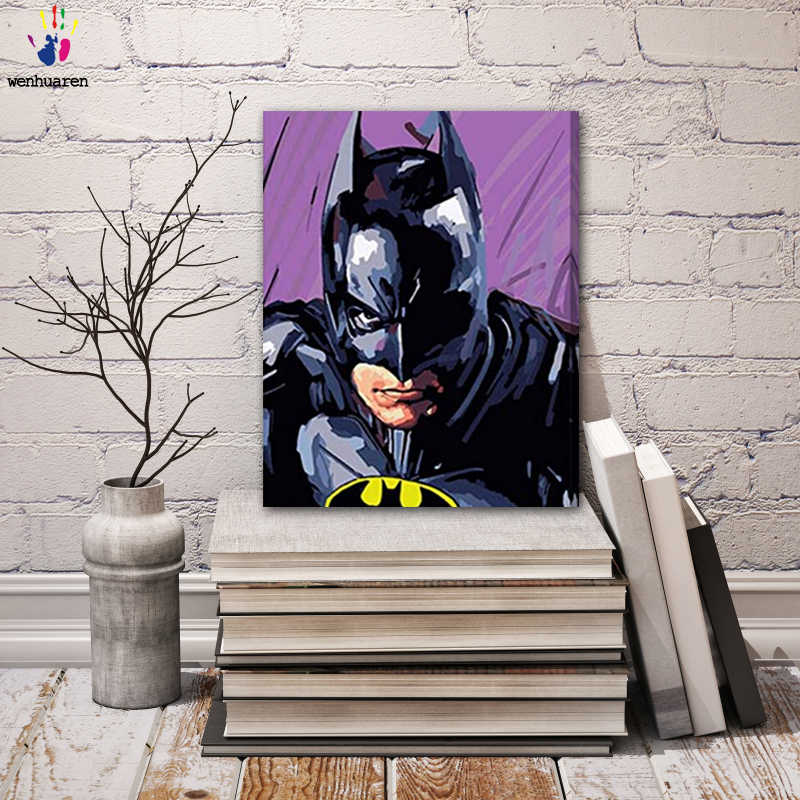 DIY colorings pictures by numbers with colors batman picture drawing painting by numbers framed Home