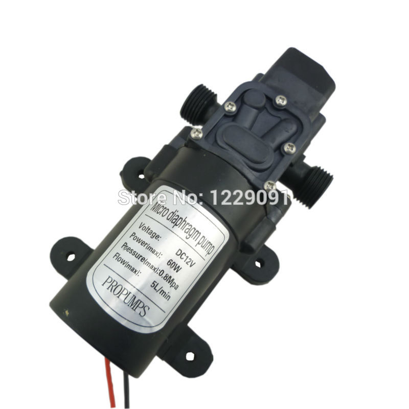 12v 24v Dc Water Pump High Pressure Self Priming Diaphragm Pump Automatic Pressure Switch Small 12 V Water Pump 60W 5L/Min
