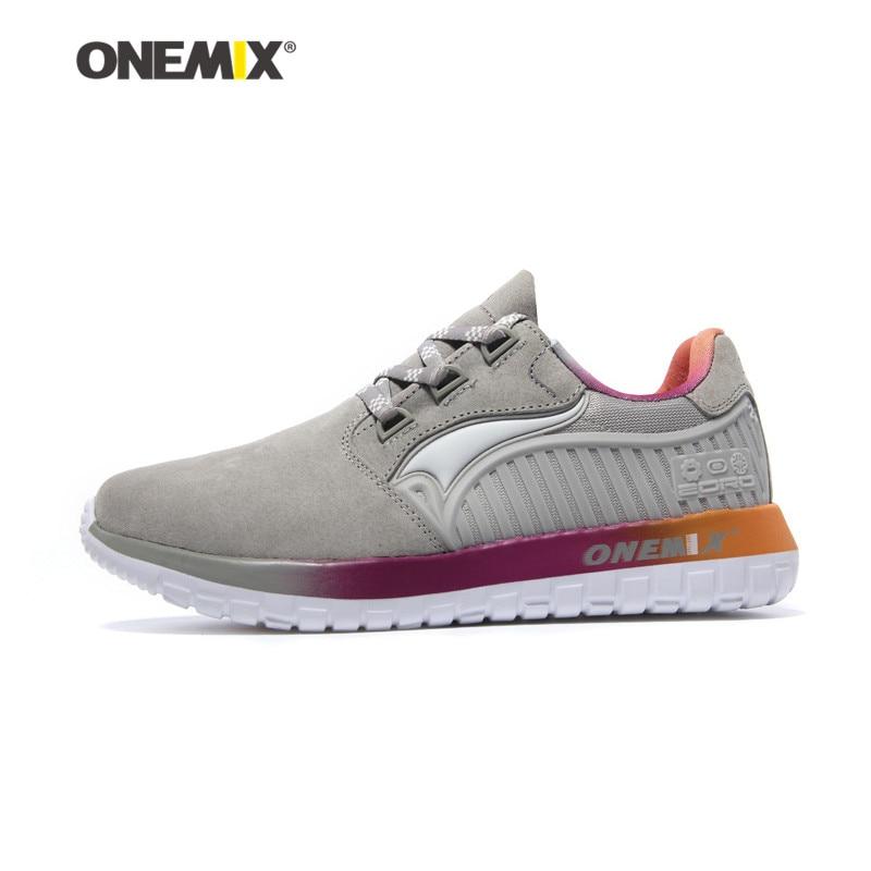 Onemix otoño & invierno hombre Zapatillas para correr antideslizante mujeres deporte retro de Zapatos sneakers Aire Libre Zapatos Correr mujeres Zapatos Correr