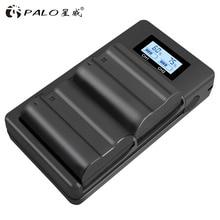 Palo 2pcs EN-EL15 ENEL15 EN EL15 Battery + LCD Dual USB Charger For Nikon DSLR D600 D610 D800 D800E D810 D7000 D7100 D7200 V1