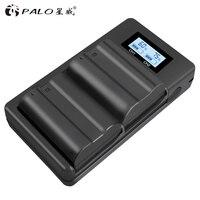 Palo 2pcs EN EL15 ENEL15 EN EL15 Battery + LCD Dual USB Charger For Nikon DSLR D600 D610 D800 D800E D810 D7000 D7100 D7200 V1