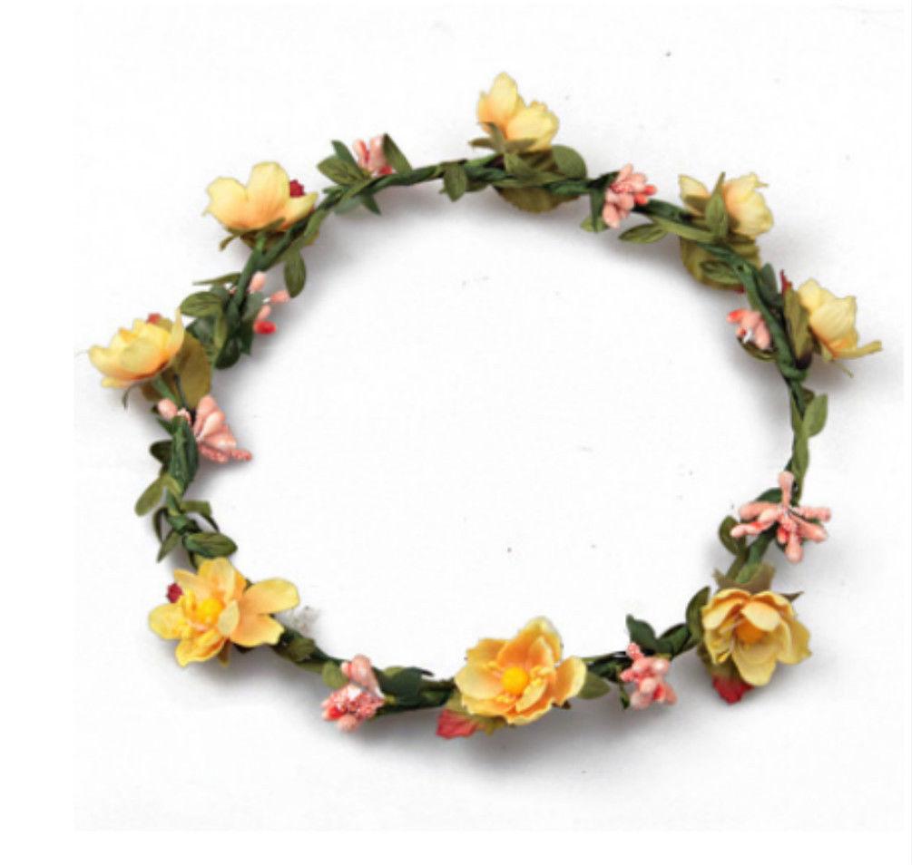Rosas flor Halo nupcial Floral corona pelo guirnalda menta cabeza guirnalda  boda accesorios tocado de dama de honor en Las mujeres accesorios para el  pelo ... a455c0beffb0