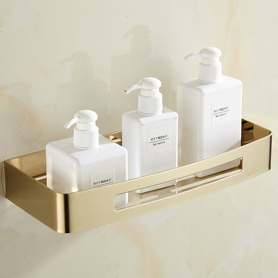 Stainless steel quadrangle bathroom shelf storage holder - Bathroom shelves stainless steel ...