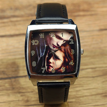 promotion popular Vampire diaries men and women fashion quartz watch unisex casual Square leather wristwatch