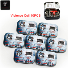 100% 7 Kinds Prebuilt Violence Coil Demon Killer DIY Staple Staggered Fused Clapton Alien V2 Tsuka Coil Clapception fit Atomizer