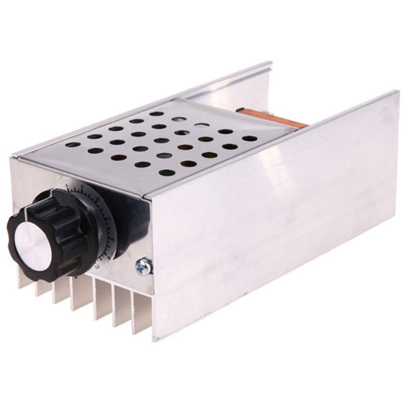Ac 220 v 6000 w scr 전압 레귤레이터 컨트롤러 전자 조광기 온도 조절기 속도 조절 금형 케이스 포함
