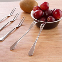 Exquisite Stainless Steel Dessert Fork Kitchen Snacks Cake Fruit Salad Tool 30
