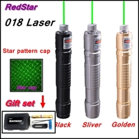 [ReadStar]RedStar 018 high 1W Green Laser pointer laser pen burn matcch laser set include pattern cap 18650 battery and charger