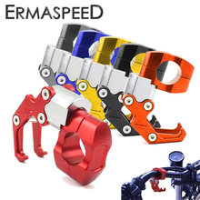 "7/8 ""22mm aluminium moto guidon crochet bagages sac casque support de suspension pour Honda Kawasaki Yamaha Scooter rue vélo KTM(China)"