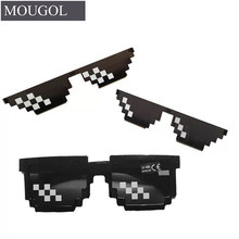 Glasses 8 Bit MLG Pixelated Sunglasses Women Brand Thug Life Party Eyeglasses Ladies Vintage Female Eyewear MOUGOL(China)