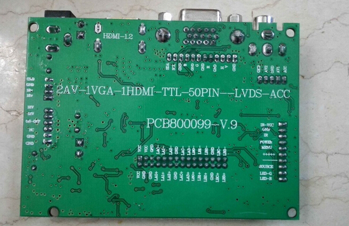 Universal HDMI VGA 2AV 50PIN TTL LVDS Controller Board Module Monitor Kit for Raspberry PI LCD AT070TN92 tn90 94 Panel freeship