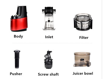 250w powerful 90mm large diameter wide mouth Fruit nutrition slow juicer Fruit Vegetable Tools Multifunctional Fruit Squeezer 6