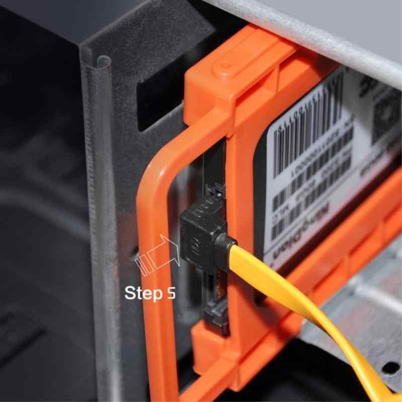 """2.5 """"إلى 3.5"""" SSD HDD دفتر الصلب محرك أقراص تصاعد البلاستيك محول القوس حوض حامل لجهاز كمبيوتر الضميمة العلبة حالة"""