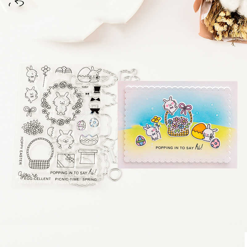 HOPPY Metal Cutting Dies and stamps DIY Scrapbooking Card Stencil Paper Cards Handmade Album Stamp Die Sheets