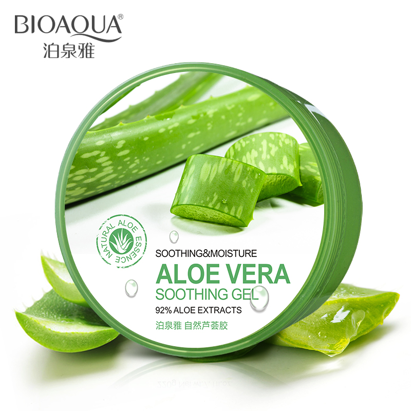 BIOAQUA Natural Aloe Vera Smooth Gel Acne Treatment Face Cream For Hydrating Moist Repair After Sun Free Shipping