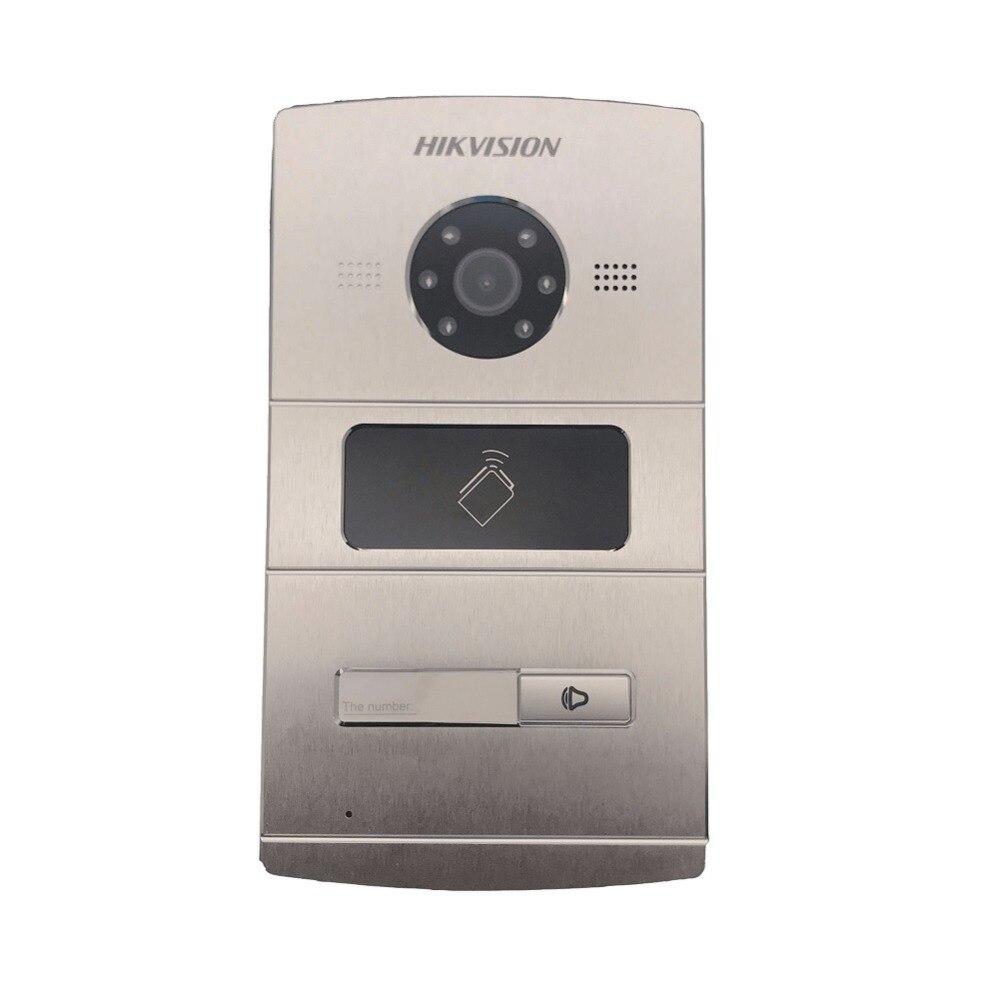 Hikvision Vidéo Interphone DS-KV8102-IM, WDR caméra, Visuel sonnette d'interphone étanche, carte ic, interphone ip
