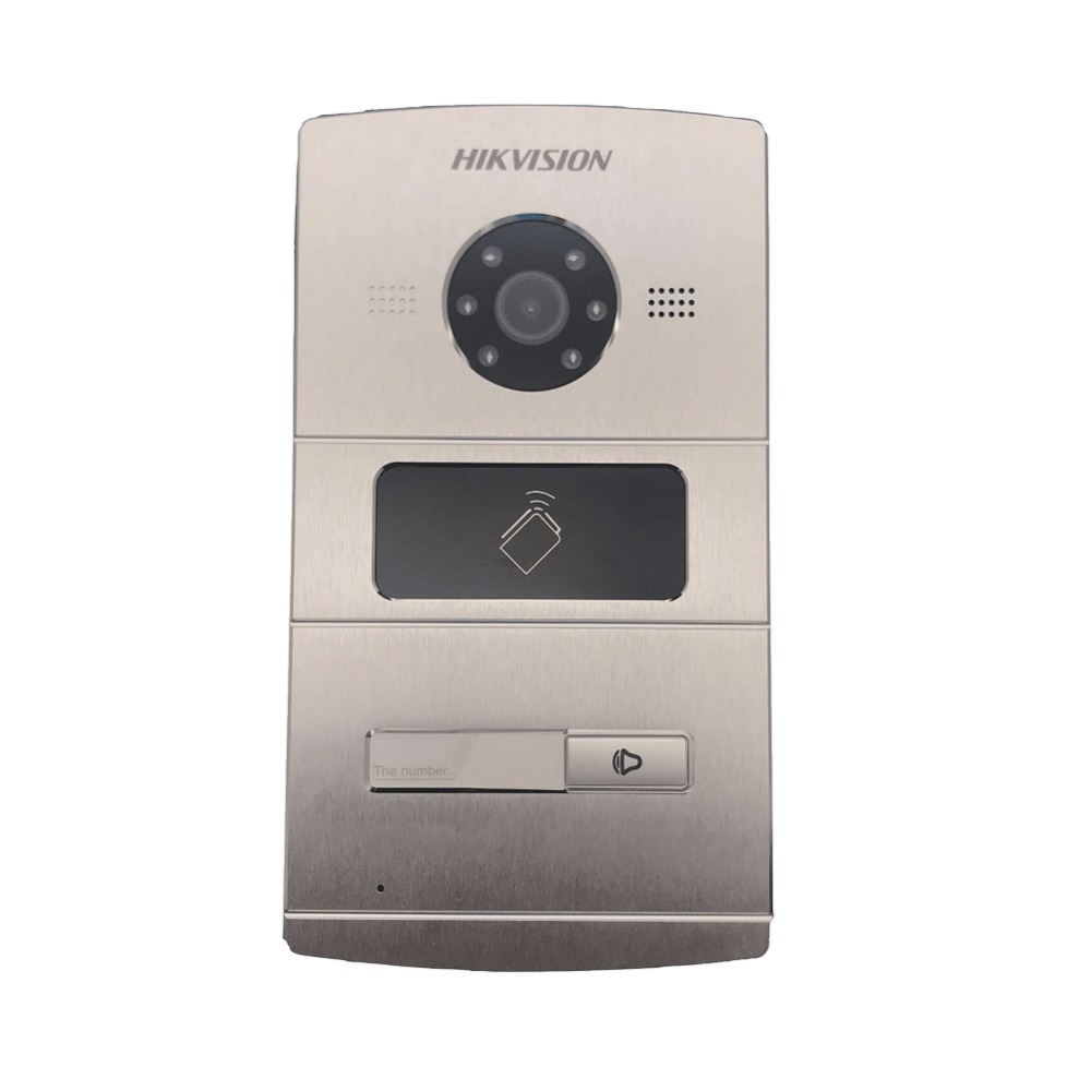 Hikvision Vidéo Interphone DS-KV8102-IM, WDR caméra, interphone Visuel sonnette étanche, carte à PUCE, IP interphone