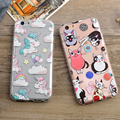 For Coque iPhone 6 Case Silicone 3D Transparent Back Cover iPhone 6 S Unicorn Cat Flower Soft Phone Case For iPhone 6 6s Plus