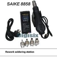 무료 배송 220V 휴대용 BGA 재 작업 솔더 스테이션 뜨거운 공기 송풍기 히트 건 saike 8858 더 나은 Saike 8858